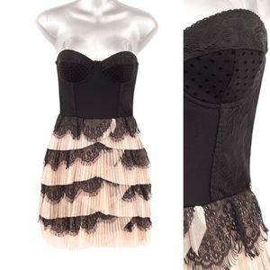 NWT H&M Ruffles and Lace Dress En Creme Party Mini